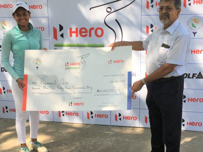 Pranavi makes a winning debut on pro circuit, wins third leg